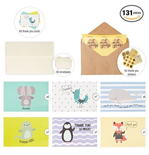 40 blank beautiful cute thank you greeting cards baby shower 40 blank beautiful cute thank you greeting cards baby shower graduation wedding business include paper m4hsunfo