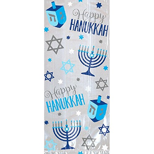 amscan Hanukkah Multicolored Plastic Bag, 20 Ct. | Party Supply