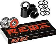 Bones Bearings Reds Bearings (8 Pack, Spacers & Wash