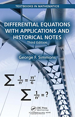 capa de livro Differential Equations with Applications and Historical Notes, Third Edition