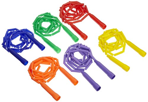Sportime Gradestuff Link Jump Ropes, 7 Feet, Set of 6 ()