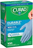 Curad Nitrile Disposable Exam Gloves, Durable and