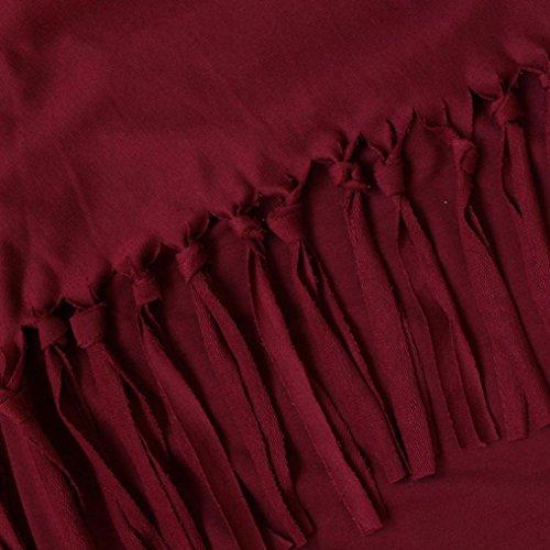 Nouvelle Tricoté Zahuihuim Automne Manches Cardigan O Gland Mode Femmes Hem Tops Vin neck Printemps Blouse À Longues Chemise Rouge EOrzqIOw