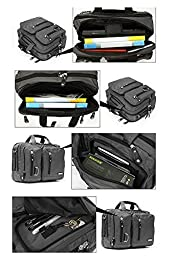 FreeBiz Laptop Bag 15 Inch Multi-function Laptop Backpack Briefcase with Handle and Shoulder Strap for 15.6 16 Inch Gaming Laptops (15.6 Inches, Black)