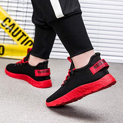 Hmlai Clearance Men's Flying Weaving Casual Walking Running Outdoor Shoes Breathable Tourist Athletic Sports Sneakers