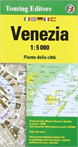 City Map Of Italy In English.Venice City Map 1 5k Tci 2014 Edi English And Italian Edition