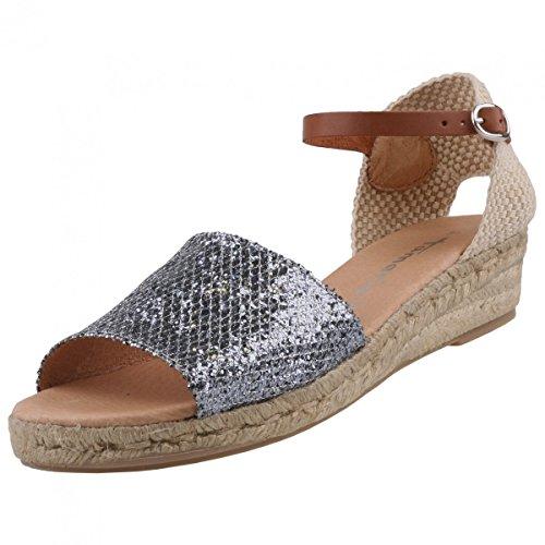 Tamaris Damen Keil-Sandaletten Silber