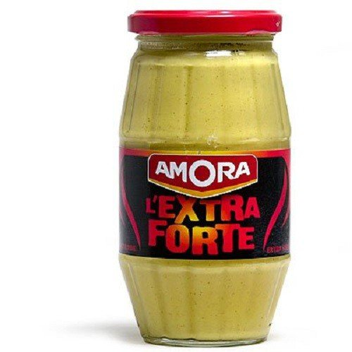 Amora Extra Strong French Dijon Mustard (L'Extra Forte Moutarde de Dijon), 440g (15.5oz) Glass Jar (French Mustard Dijon)