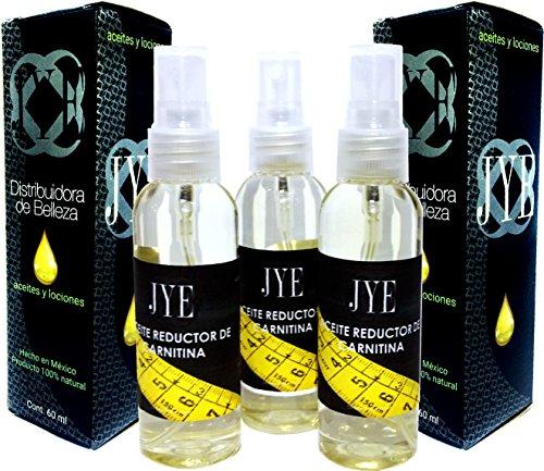 3 Frascos de Aceite JYE L Carnitina Reductor para uso Externo