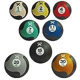 CanDo Rubber Medicine Ball, Green