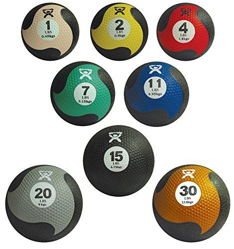 CanDo Rubber Medicine Ball, Yellow
