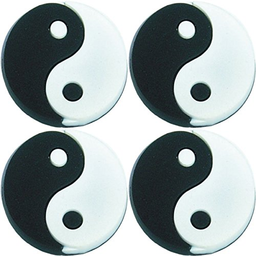 (Four (4) of Ying Yang Shoe Rubber Charm SC824s for Wristbands and)