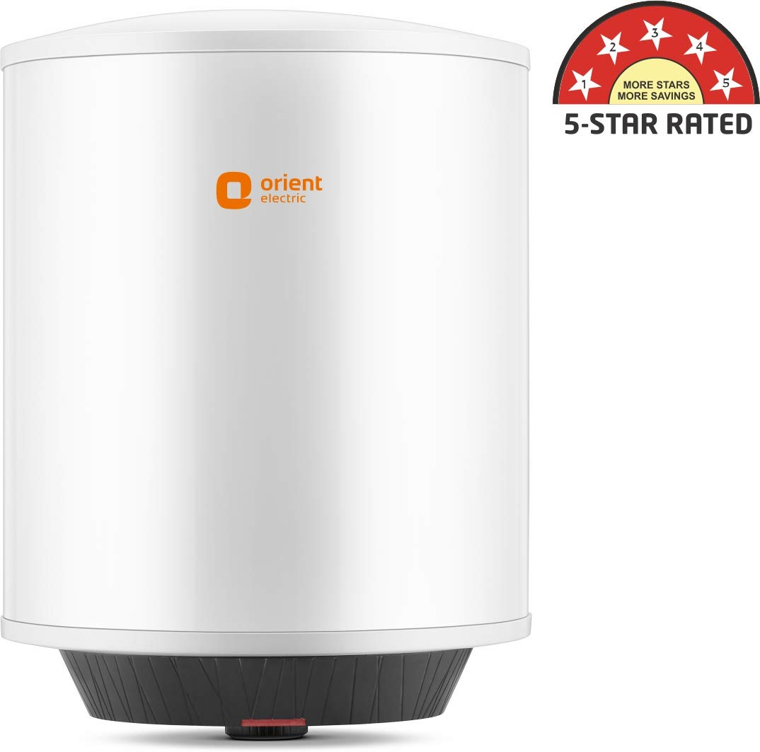Orient Electric Ecowonder 15-Litre Vertical Storage Water Heater (White)- BEE 5 Star