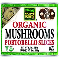 Native Forest Organic Sliced Portobello Mushrooms, 4 Ounce Cans (Pack of 12)