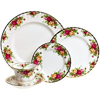 Royal Albert 15210002 Old Country Roses 5-Piece Place Setting Service for 1  sc 1 st  Amazon.com & Amazon.com | Royal Doulton-Royal Albert Old Country Roses 12-Piece ...