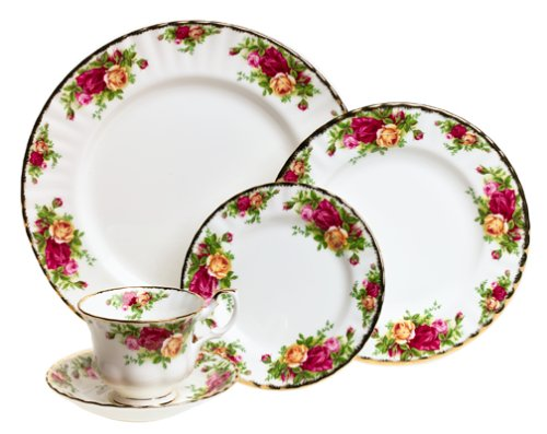 (Royal Albert 15210002 Old Country Roses 5-Piece Place Setting, Service for 1)