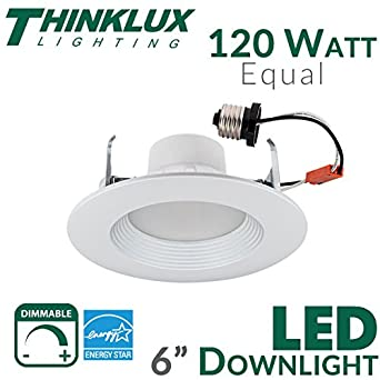 thinklux 5 6 led downlight energy star 18w 120w replacement