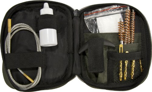 BARSKA Gun Cleaning Kit with Flexible Rod and Pouch Flexible Gun