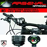 #1 Rechargeable Dual CREE XML T6 LED Headlight Kit, Two Free LED Taillights, for all Bikes, Joggers, Strollers, etc. Water Proof, Easy to Install (No Tools Requiered) LIFETIME GUARANTEE. For Sale