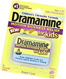 Dramamine Motion Sickness Relief for Kids, Grape Flavor, 8 Count (2 Pack)