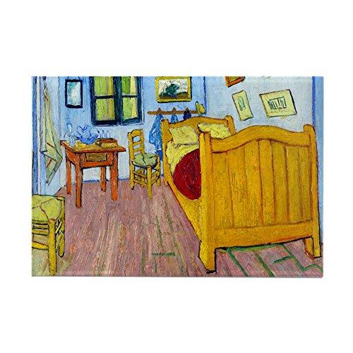 "CafePress Van Gogh - Bedroom at Arles Rectangle Magnet Rectangle Magnet, 2""x3"" Refrigerator Magnet"