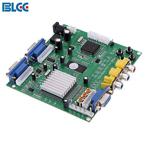 BLEE High Definition CGA EGA YUV to VGA (2 VGA) Arcade Games Video Converter Board Double VGA Output for CRT LCD PDP Monitor ( ()