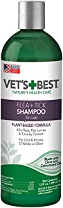 Vet's Best Advanced Strength Flea + Tick Cat Shampoo