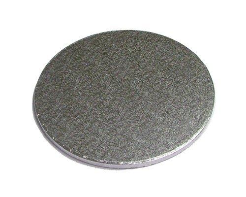 12,7 x 35,6 cm pollici sottotorta rotondo argento 13 mm di spessore