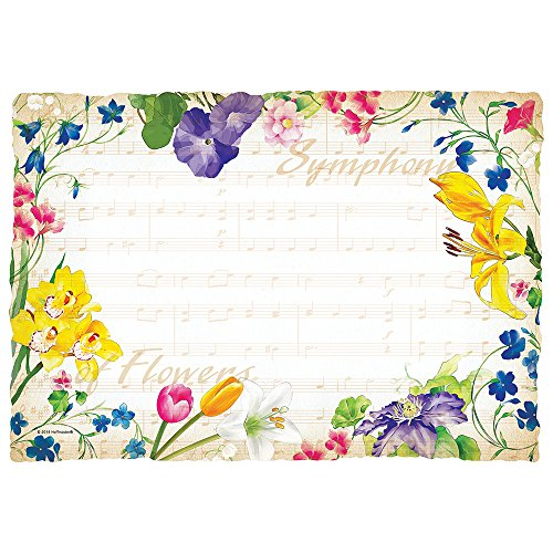 Hoffmaster 311114 Symphony Flowers Placemat, 100% Recycled Paper, 9-3/4