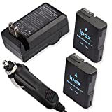 2x Battery+Charger+Car Plug for Nikon EN-EL12 ENEL12 Nikon Coolpix Digital Camera Camcorders with case gift by IPAX