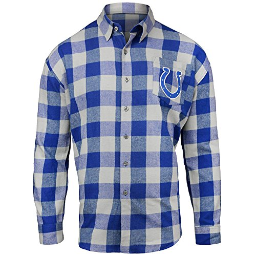 Indianapolis Colts Large Check Flannel Shirt - Mens Extra Large (Indianapolis Colts Flannel)