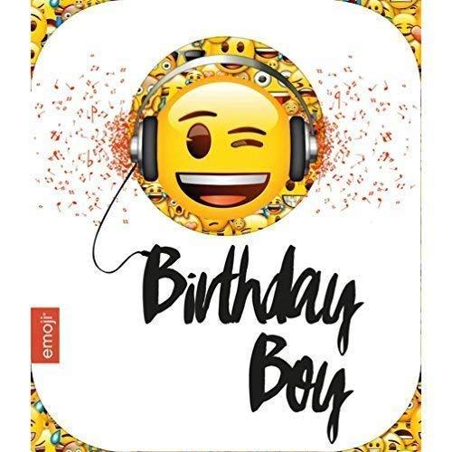 Amazon.com: Emoji Birthday Boy tarjeta de felicitación de ...