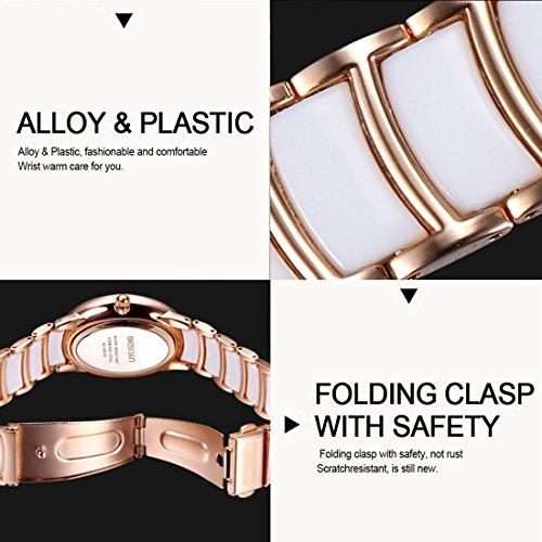Oval Dial Scroll Rhinestone Bezel Quartz Women Watch With Alloy & Plastic Band (SKU : WA0612BW) by Dig dog bone (Image #5)
