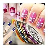 Susenstone 32Pcs Mixed Colors Rolls Striping Tape Line Nail Art Tips Decoration Sticker