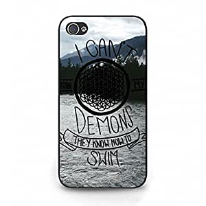 Stylish Durable Pattern Bring Me The Horizon Phone Case Cover for Iphone 4/4s Sheffield Yorkshire Music Design