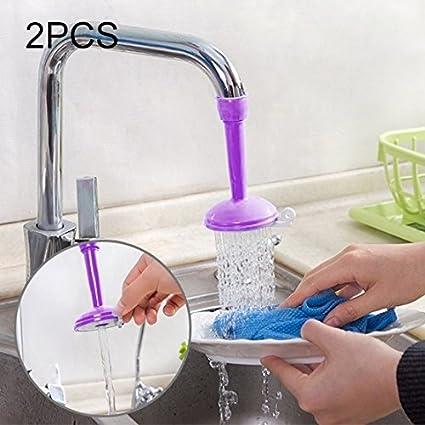 Fournitures de cuisine 2 PCS Robinet Éclaboussure Économiseur d'Eau Bain Douche Filtre Réglable Dispositifs d'économie d'eau Accessoires d'outils (Couleur : Rose)