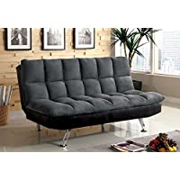 247SHOPATHOME Idf-2905GP Futon-Sets, Full, Gray