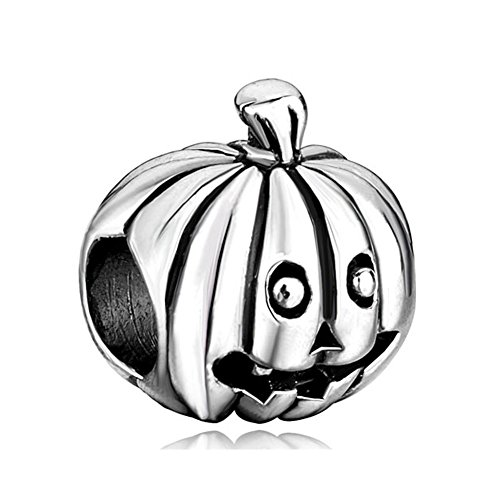 Pumpkin Halloween European Bead Fits Pandora Charm Bracelets (Pumpkin Pugster Halloween)