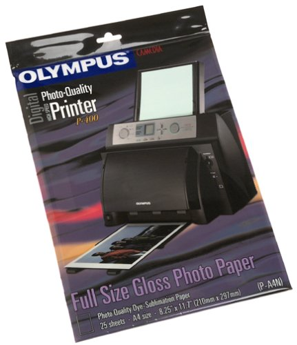 Olympus A4 Standard Gloss Photo Paper for P-400 (25-Sheets)
