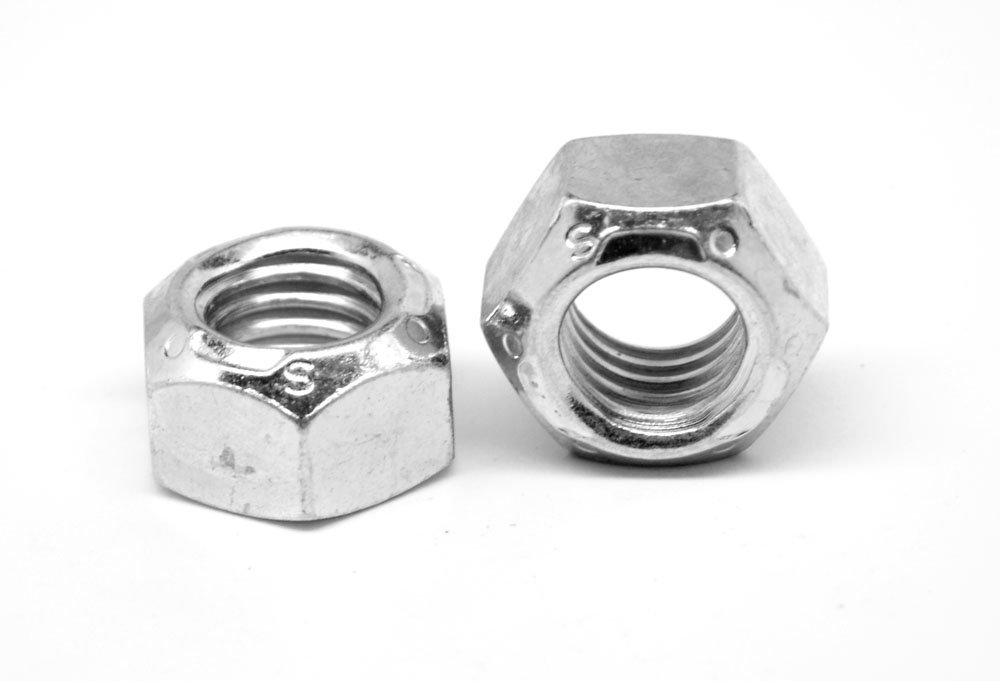 1/4''-28 Fine Thread Grade C Stover All Metal Locknut Medium Carbon Steel Zinc Plated and Wax Pk 100 by ASMC Industrial