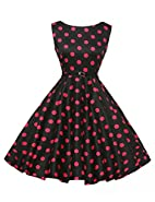 GRACE KARIN® Sleeveless Vintage Tea Dress with Belt VL6086 (Multi-Colored)