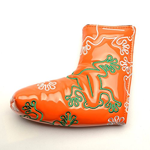 - COOLSKY Golf Putter Head Cover Orange Frog Pattern with Magnetic Closure Design Blade Style Headcover