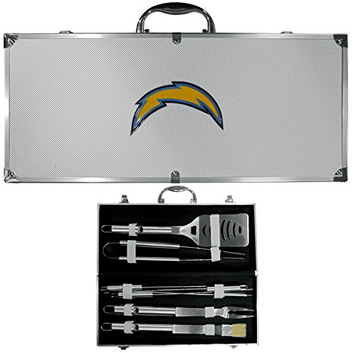 - NFL San Diego Chargers 8-Piece Barbecue Set w/Case