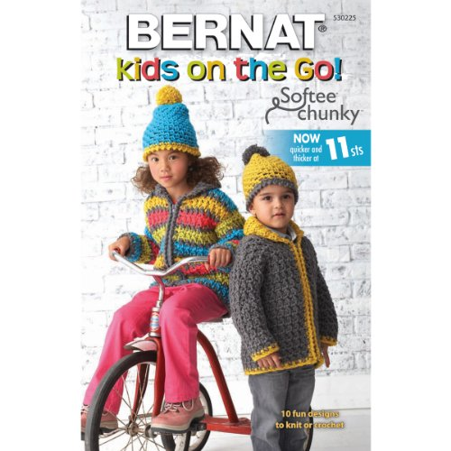 Spinrite Bernat Knitting and Crochet Patterns, Kids on The Go Softee Chunky (Bernat Crochet Patterns)