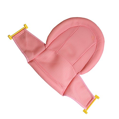Autbye Baby Bath Support Seat, Newborn Shower Mesh For bathtub, 2018 New Style Adjustable Comfortable Non-Slip Bath Seat For Infant 0-3 Years (Pink) by Autbye