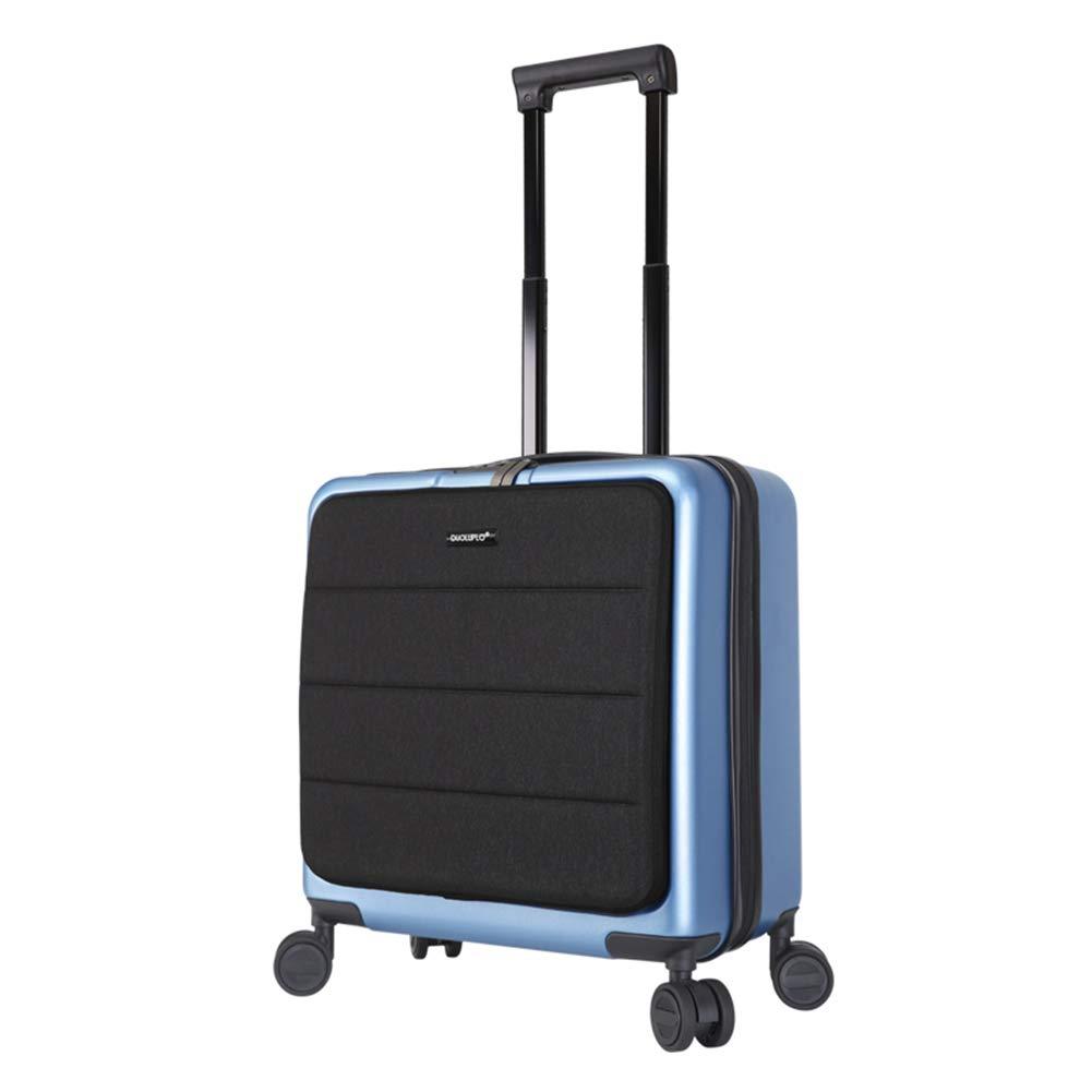 トロリーケース、ウルトラライトとサイレントユニバーサルホイールビジネススーツケース、男性と女性の旅行スーツケース(ジッパー) B07Q7RST86 Blue 18inches