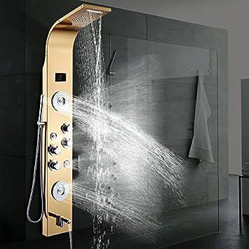 Hlluya grifos Cocina baño Les Douches termostática Columna de ...