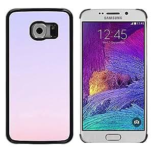 FlareStar Colour Printing Purple Sky Sunset Red Nature Summer cáscara Funda Case Caso de plástico para Samsung Galaxy S6 EDGE / SM-G925 / SM-G925A / SM-G925T / SM-G925F / SM-G925I