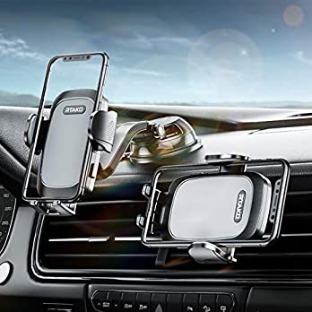 RTAKO Car Phone Holder Mount 360 Degree Rotation Cell Phone Holder for Car Dashboard/Windshield/Air Vent/Desk, Phone Car…