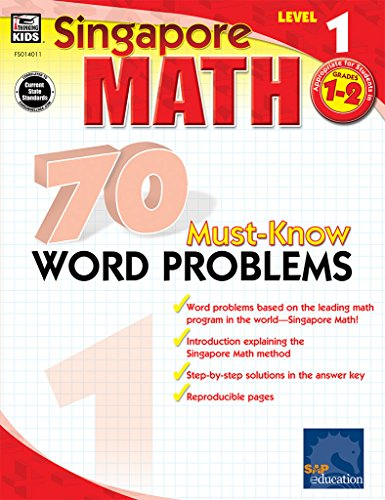 70 Must-Know Word Problems, Grades 1 - 2 (Singapore Math)